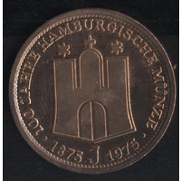 Германия памятная медаль. Гамбург (*). Бронзовое покрытие.