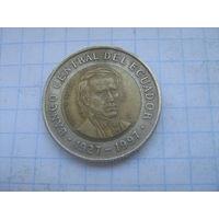 Эквадор 1000 сукре 1997г 70 лет  центральному банку.km103