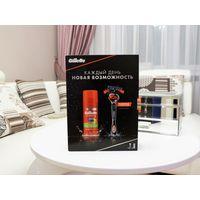 Подарочный набор Gillette бритва+1 кассета+гель для бритья