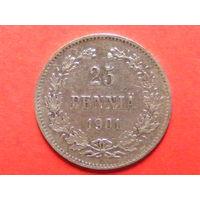 25 пенни 1901 L серебро