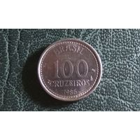 100 крузейро 1985. Бразилия.