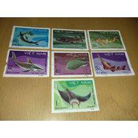 Вьетнам 1980 Морская фауна 7 марок