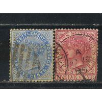 GB Малайя Стрейтс Сетлментс 1883 V Стандарт #37-38