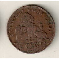 Бельгия 2 сантим 1919