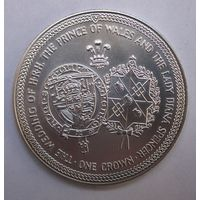 Мэн, крона, 1981, серебро