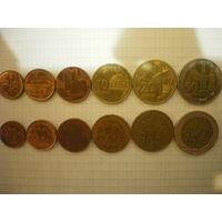 Азербайджан, полный набор монет.