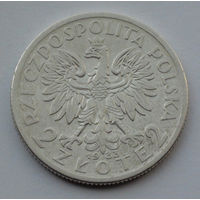 Польша 2 злотых. 1933. Королева Ядвига