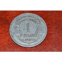 1 франк 1946 Франция KM# 885a.1 алюминий