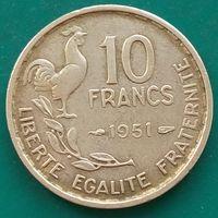 10 франков 1951 ФРАНЦИЯ