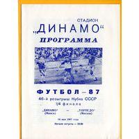 Динамо Минск - Торпедо Москва. Кубок СССР 1987г.