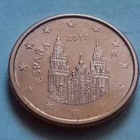 1 евроцент, Испания 2017 г.