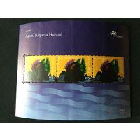 Вода. Сокровища природы. Азорские острова.2001, лист