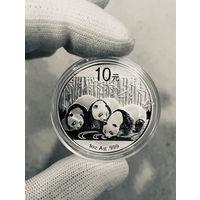 Монета ПАНДА Китая 2013, Серебро, 1 oz
