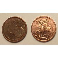 Литва 1 евроцент 2015