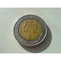Марокко 5 дирхамов 1987