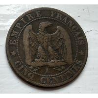 Франция 5 сантимов, 1856 A - Париж 2-6-10