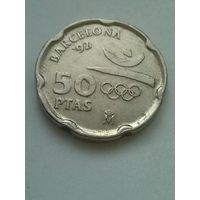 Испания 50 песет 1992