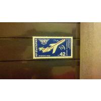 Самолеты, авиация, транспорт, техника, воздушный флот, марка, Болгария, 1984