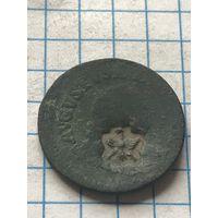 Грош 1754 с надпечаткой Радзивилов