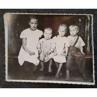 Фото детей 1940-х. 9,5х12 см