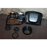 Фотоаппарат КИЕВ-19, времён СССР, с объективом МС Гелиос-81 Н 2/50+светофильтр и другое.