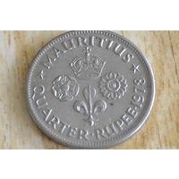 Маврикий 1/4 рупии 1978