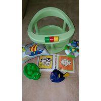 Стульчик для купания и игрушки для купания одним лотом