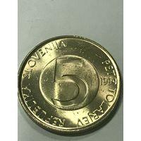 5 толаров, 1999 г., Словения