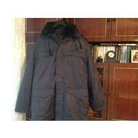 Новая темно-серая тёплая форменная куртка 54-56/188 с меховой подстежкой и воротником