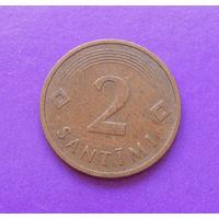 2 сантима 1992 Латвия #06