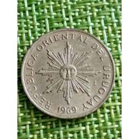 Уругвай 5 песо 1969 г