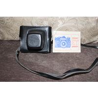 Фотоаппарат времён СССР, ЗЕНИТ ЕТ с объективом HELIOS-44M, хорошее состояние+иструкция.