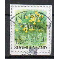 Флора Цветы Финляндия 1999 год серия из 1 б/з марки
