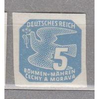 Германия Рейх  Протекторат Богемия и Моравия    Знаки оплаты за газеты 1943 год