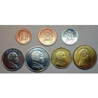 Малави. набор 7 монет  1, 2, 5, 10, 20, 50 тамбала, 1 квача  1995-1996 год