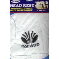 Чехлы на подголовники с логотипом Daewoo HR384