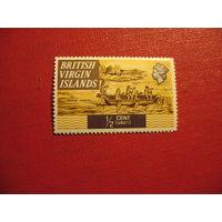 Марка Карибское каноэ (Корабли) 1970 год Британские Виргинские острова