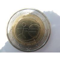 Португалия 2 евро 2009 г. 10-летие монетарной политики ЕС (EMU) и введения евро. (юбилейная) UNC!