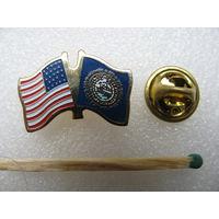 Знак - фрачник. Флаг США (тяжёлый, цанга)