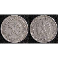YS: Германия, Третий Рейх, 50 рейхспфеннигов 1935G, КМ# 87 (2)