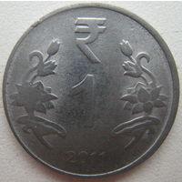 Индия 1 рупия 2011 г. (g)