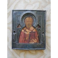 Икона Николай Чудотворец. Оклад серебро. 17 век.