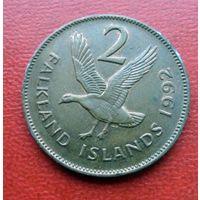 2 пенса 1992 года Фолклендские острова - из коллекции