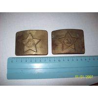 Пряги ВС СССР 2 разновидности(звезда малая и большая) латунь.лот продается целиком.цена за весь лот