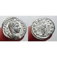 Римская Империя, Элагабал, 218-222 гг, денарий, с Абунданцией на реверсе.