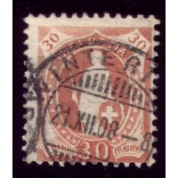 1 марка 1882 год Швейцария 60