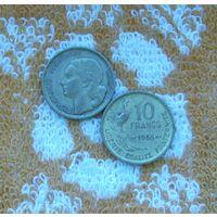 Франция 10 франков 1955 года