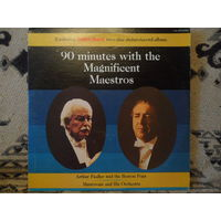 Arthur Fiedler and the Boston Pops / Mantovani and His Orchestra - 90 minutes with the Magnificent Maestros - Radio Shack, USA - 2 пластинки