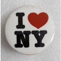 Значок. I Love NY #0714