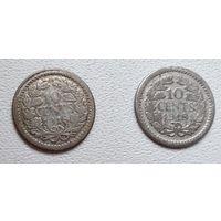 Нидерланды 10 центов, 1918 6-4-27*28